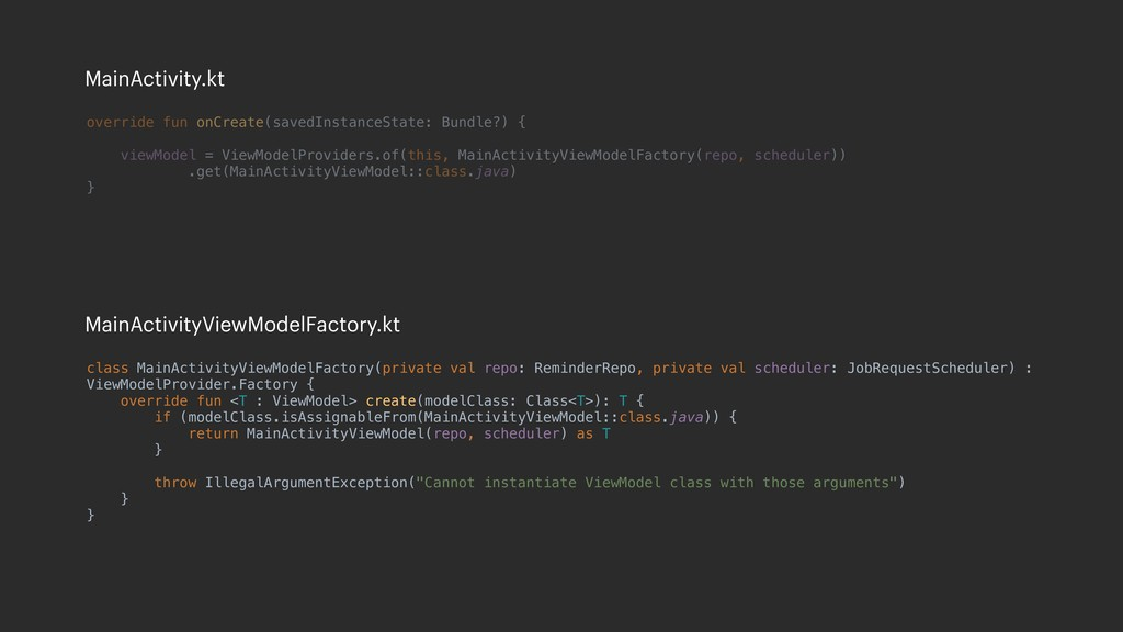 class MainActivityViewModelFactory(private val ...