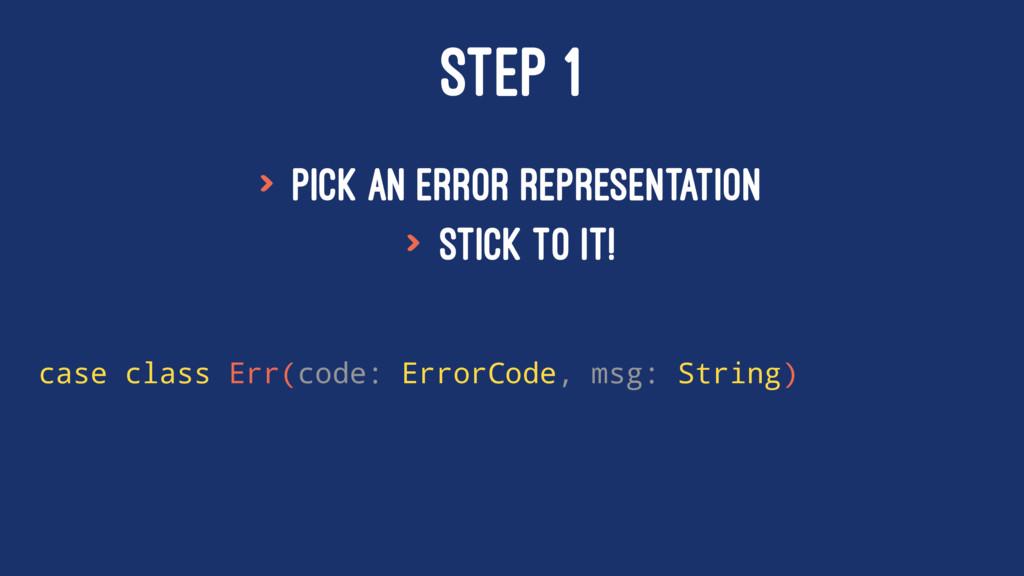 STEP 1 > Pick an error representation > stick t...
