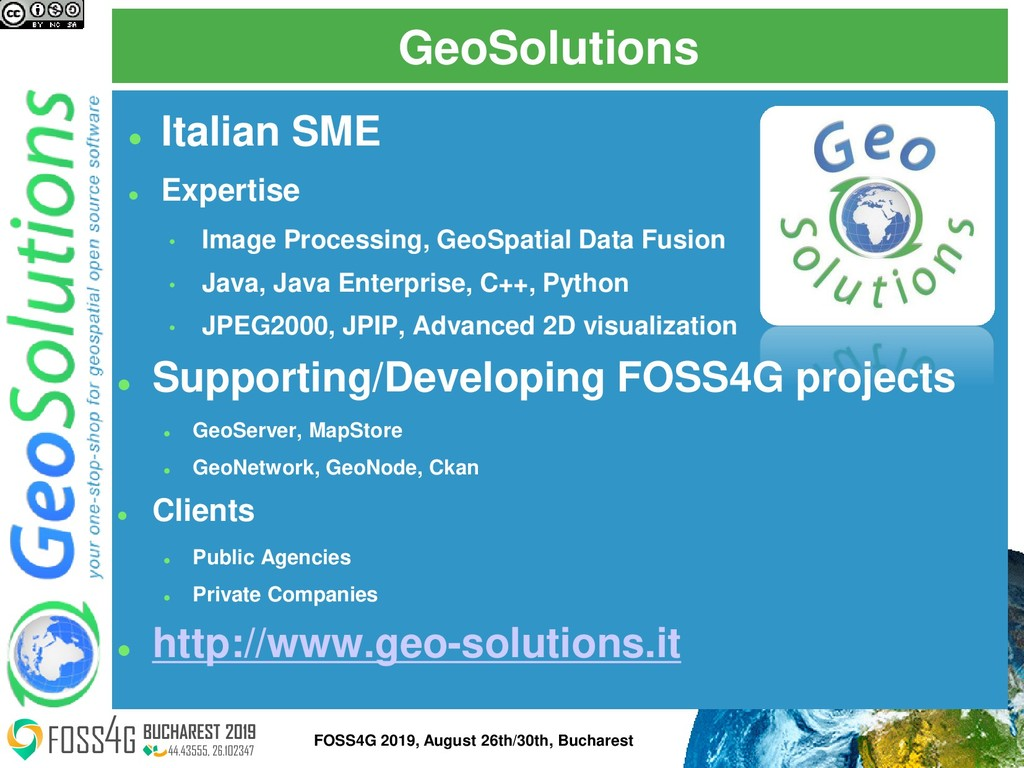 GeoSolutions ⚫ Italian SME ⚫ Expertise • Image ...