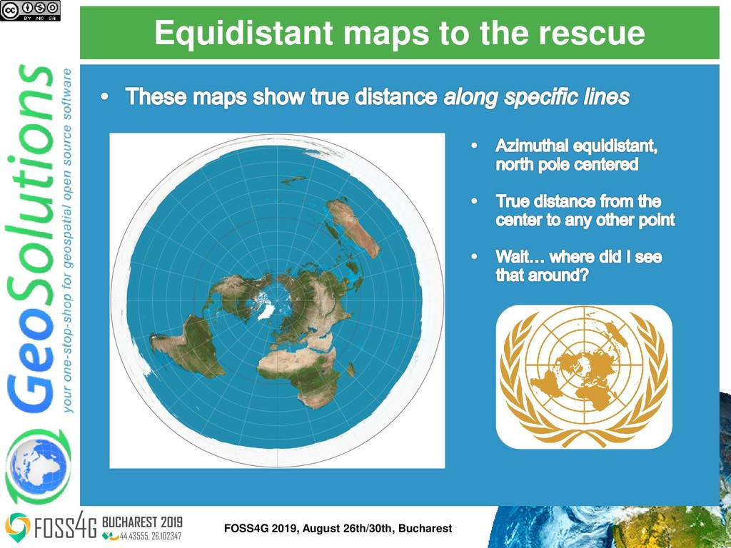 Equidistant maps to the rescue FOSS4G 2019, Aug...