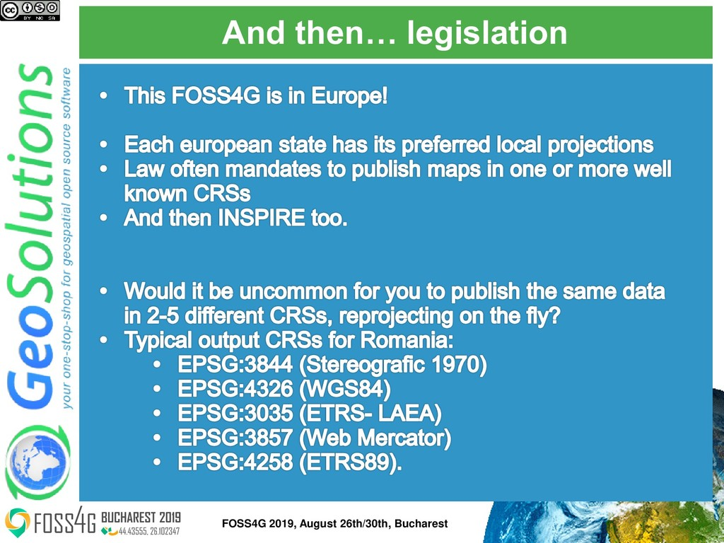 And then… legislation FOSS4G 2019, August 26th/...