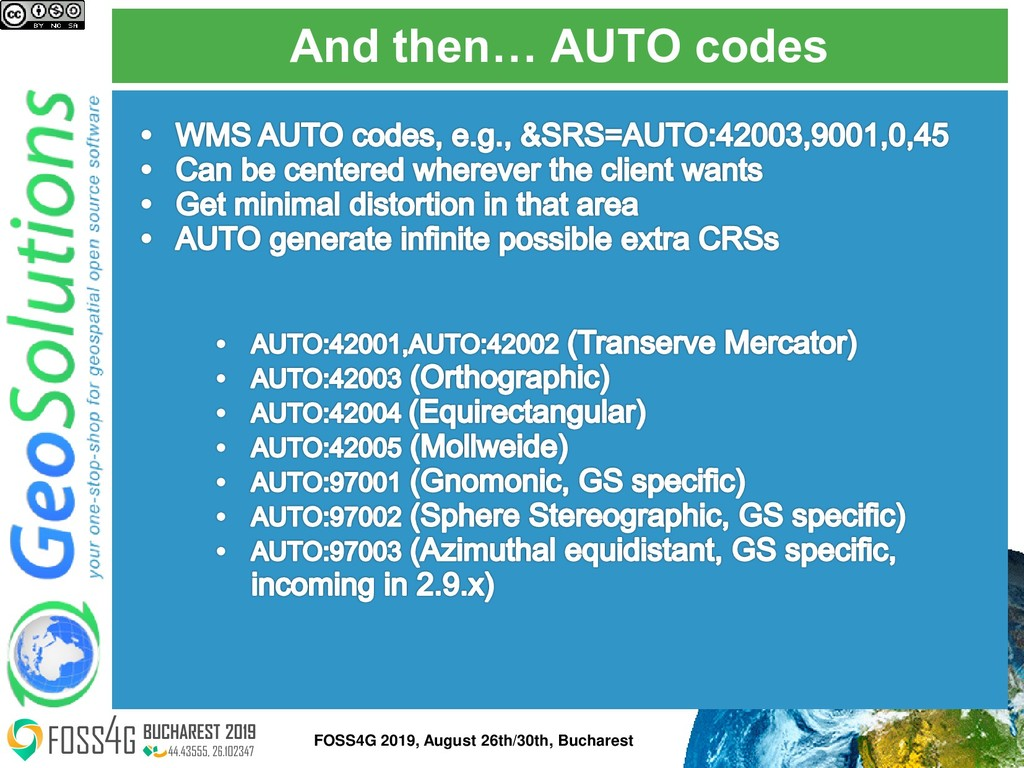 And then… AUTO codes FOSS4G 2019, August 26th/3...
