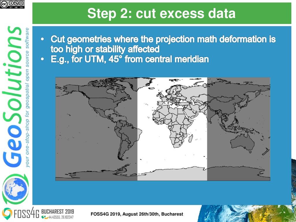 Step 2: cut excess data FOSS4G 2019, August 26t...