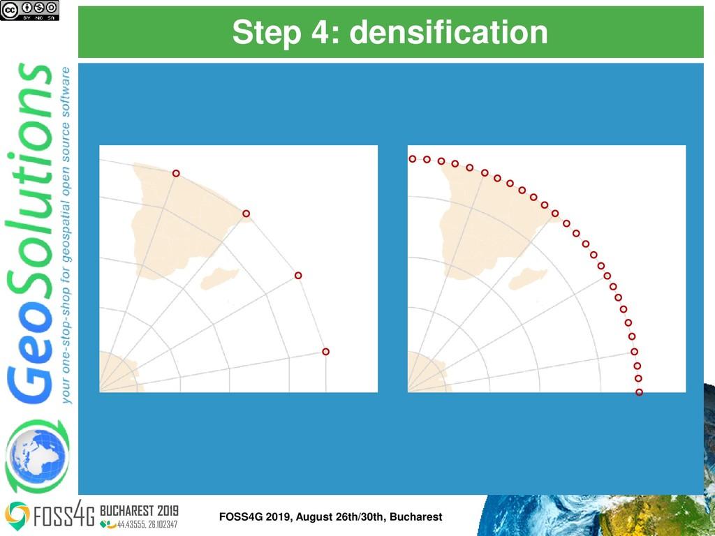 Step 4: densification FOSS4G 2019, August 26th/...