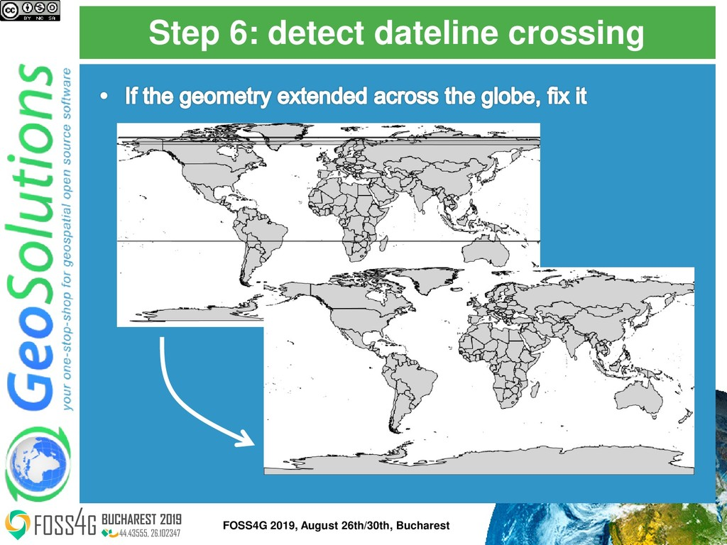 Step 6: detect dateline crossing FOSS4G 2019, A...