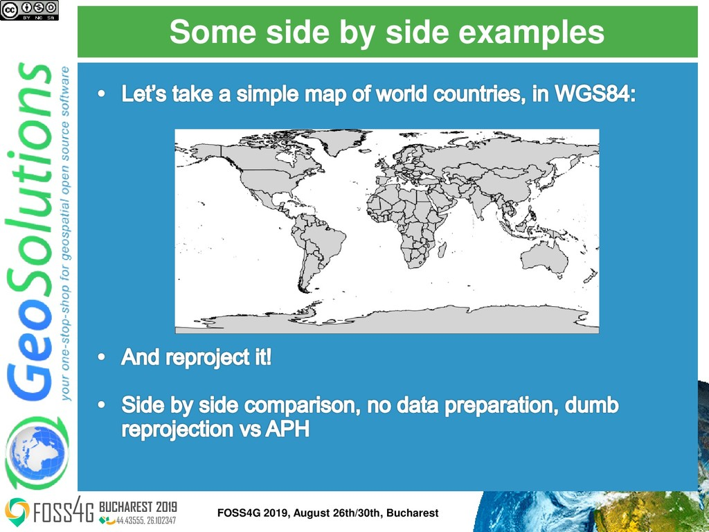 Some side by side examples FOSS4G 2019, August ...