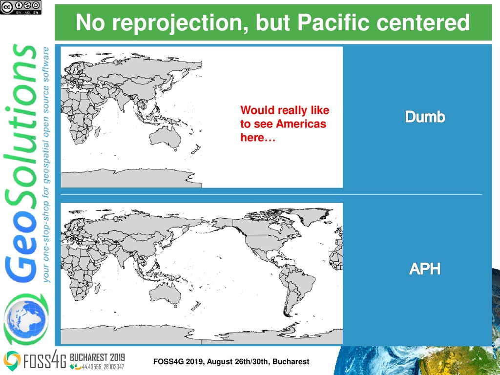 No reprojection, but Pacific centered Would rea...