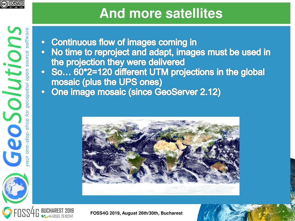 And more satellites FOSS4G 2019, August 26th/30...