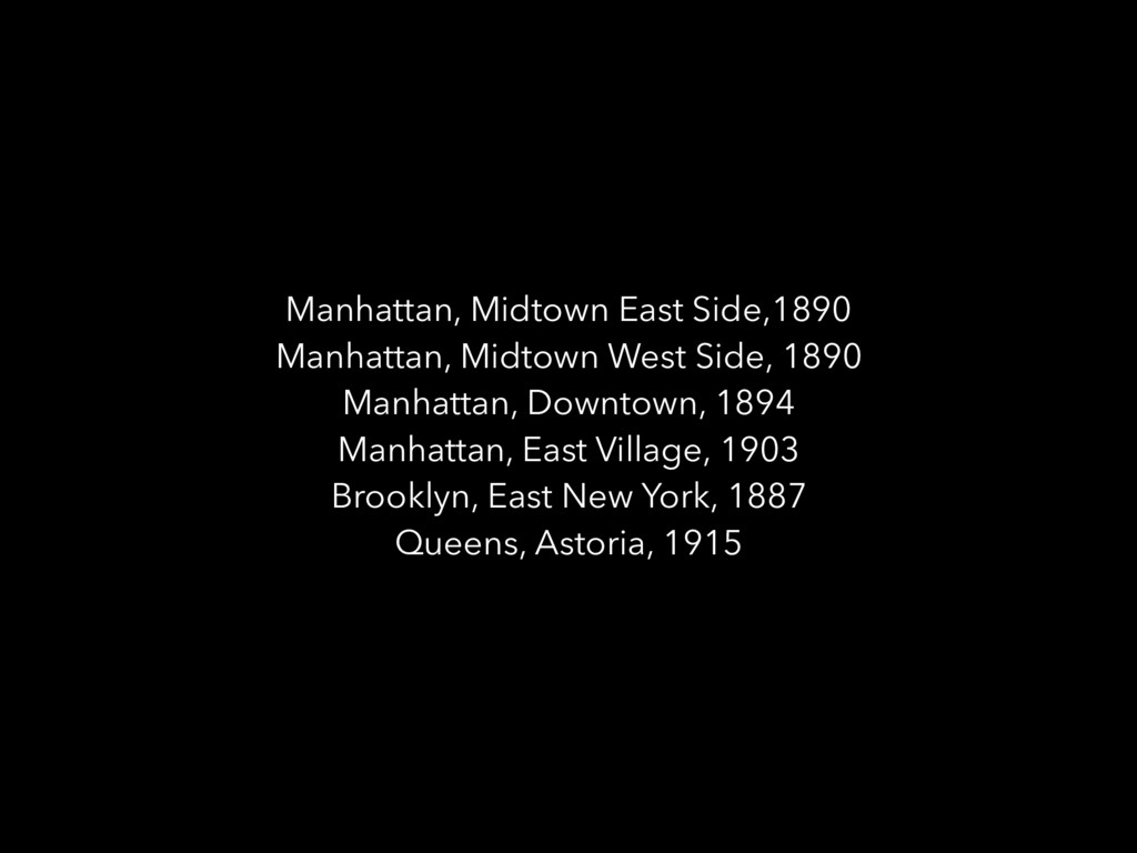 Manhattan, Midtown East Side,1890 Manhattan, Mi...