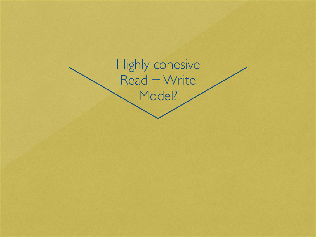 Highly cohesive  Read + Write Model?