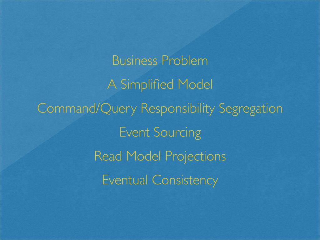 Business Problem  A Simplified Model  Comman...
