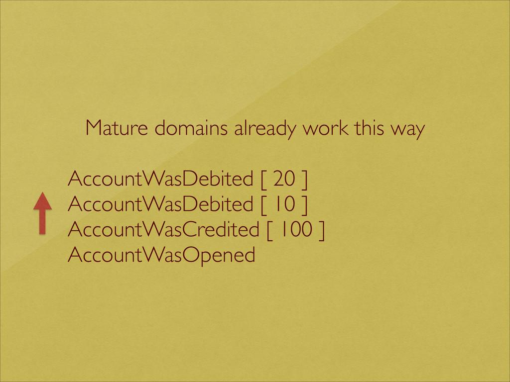 Mature domains already work this way  ! Accou...