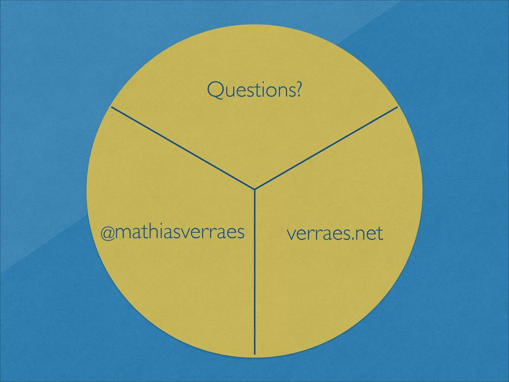 Questions? verraes.net @mathiasverraes