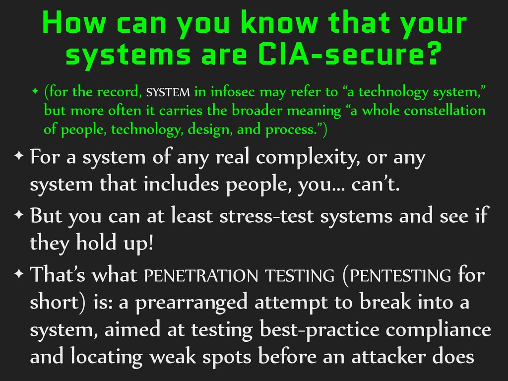 How can you know that your systems are CIA-secu...