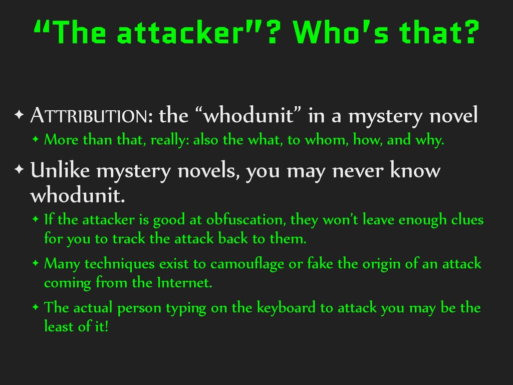 """""""The attacker""""? Who's that? ✦ ATTRIBUTION: the ..."""