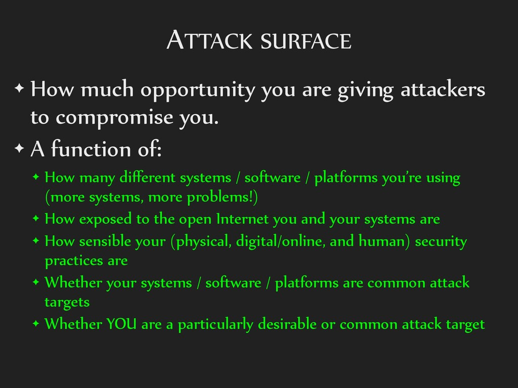 ATTACK SURFACE ✦ How much opportunity you are g...