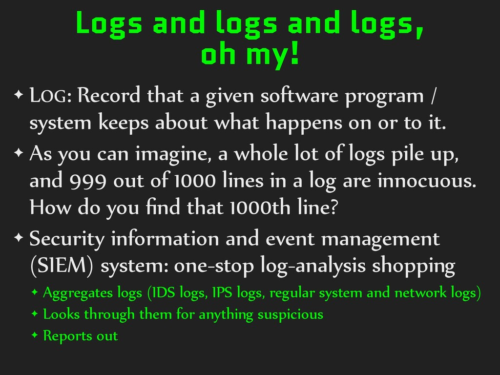 Logs and logs and logs, oh my! ✦ LOG: Record th...
