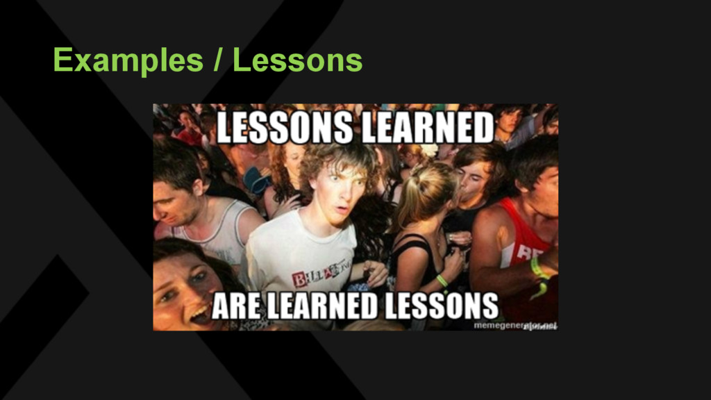 Examples / Lessons