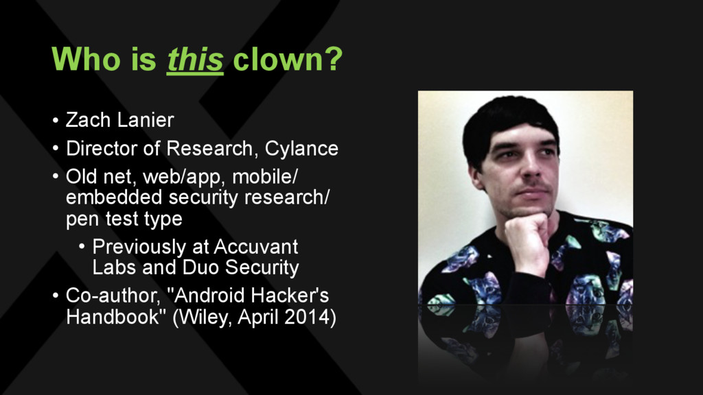 Who is this clown? • Zach Lanier • Director of ...