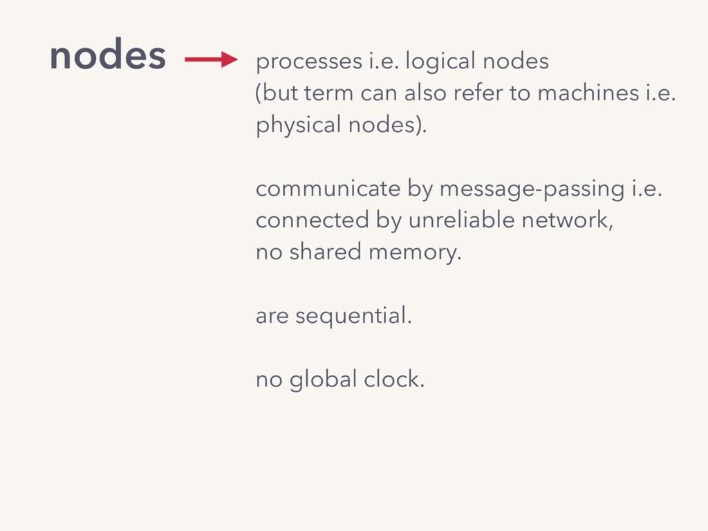 nodes processes i.e. logical nodes (but term c...