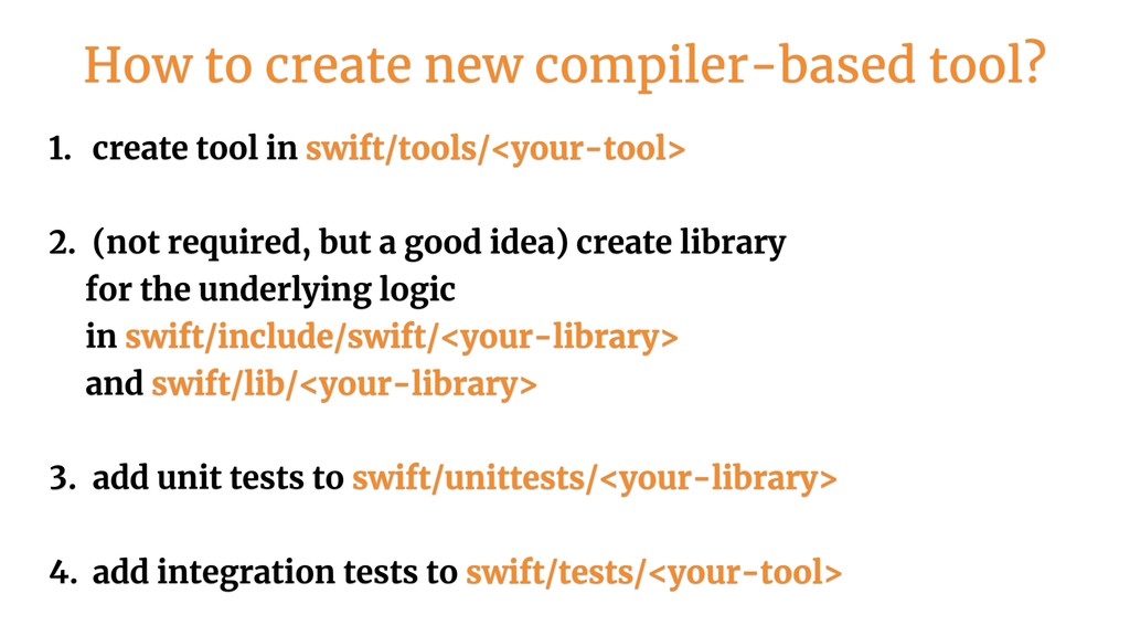 1. create tool in swift/tools/<your-tool>
