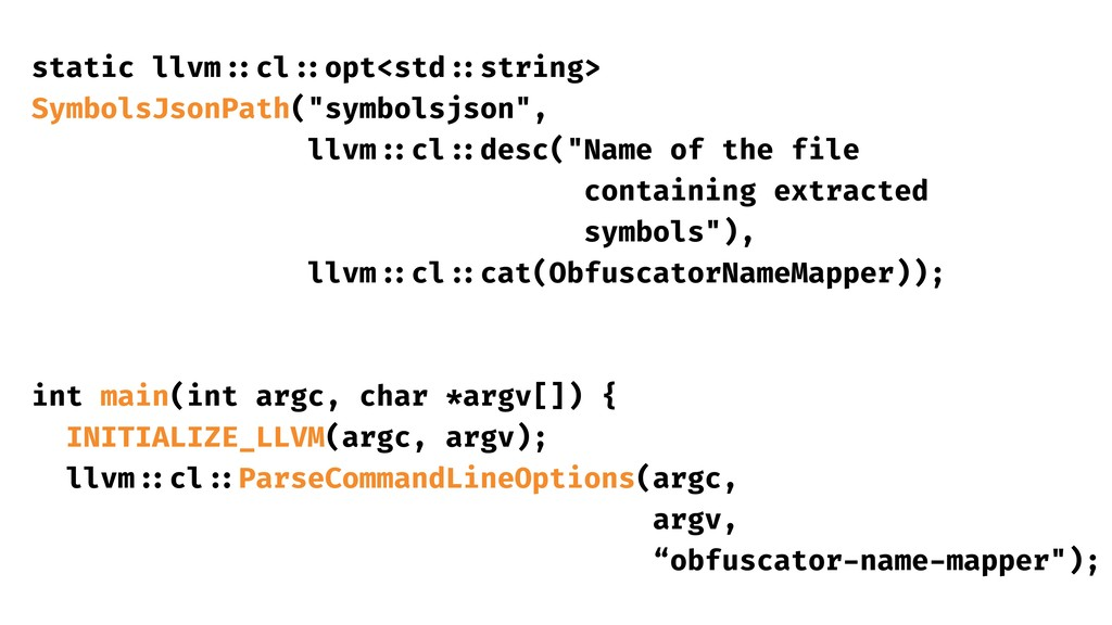 static llvm ::cl ::opt<std ::string> SymbolsJso...