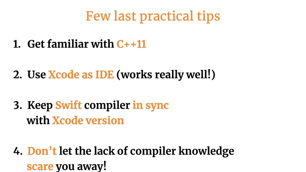 1. Get familiar with C++11