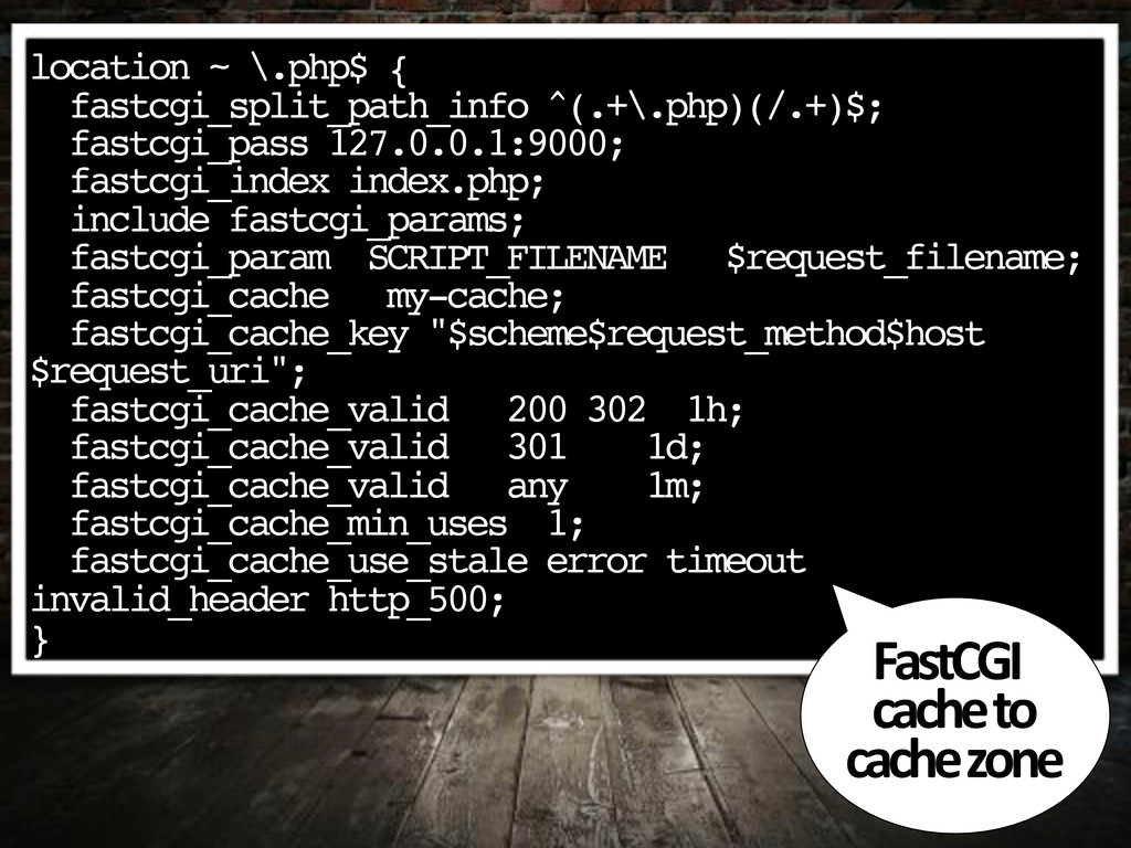 location ~ \.php$ { fastcgi_split_path_info ^(....