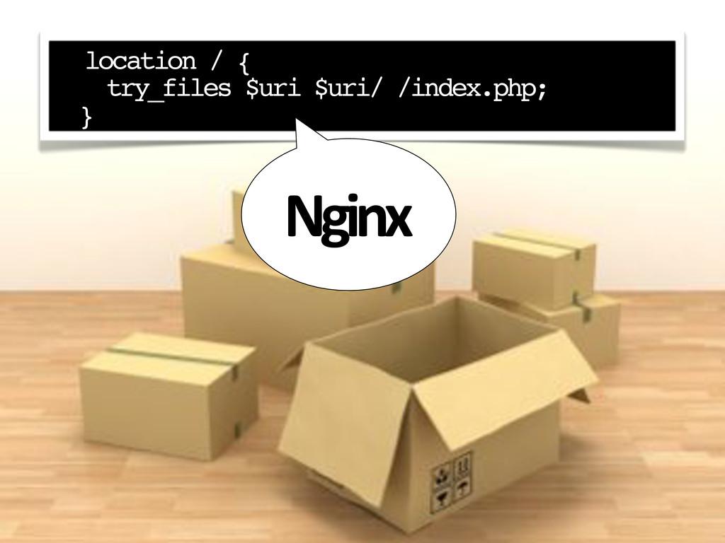 """ location / { try_files $uri $uri/ /index.php;..."