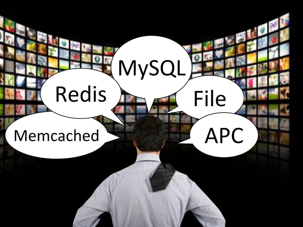 File MySQL APC Memcached Redis