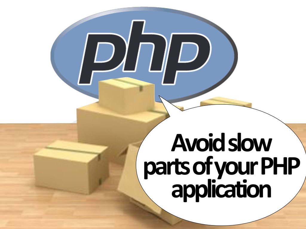 Avoid#slow# parts#of#your#PHP# application