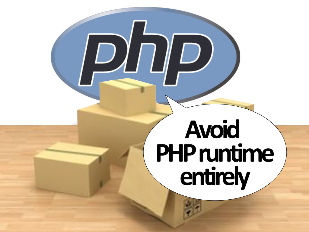 Avoid# PHP#runtime# entirely