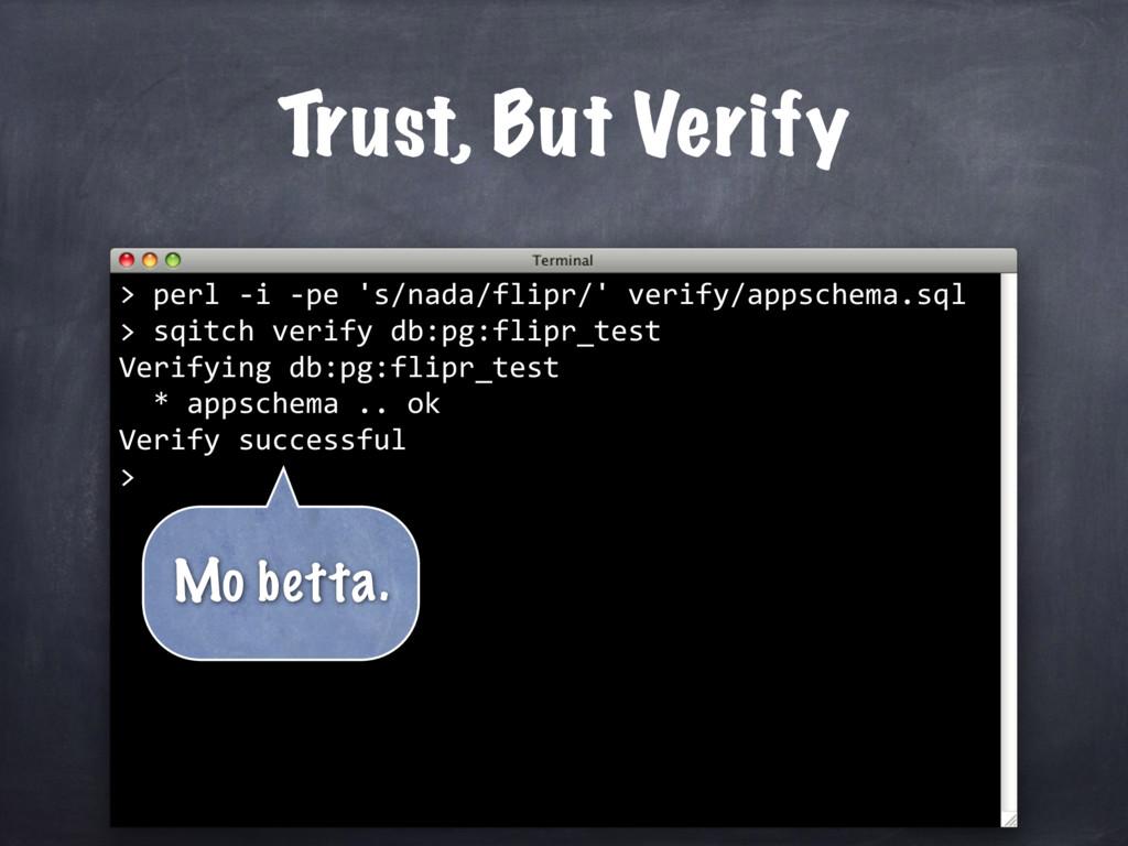 sqitch verify db:pg:flipr_test Verifying db:pg:...