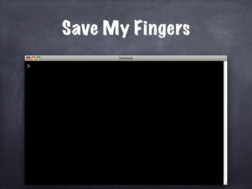 Save My Fingers >