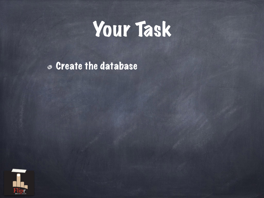 Your Task Create the database antisocial network