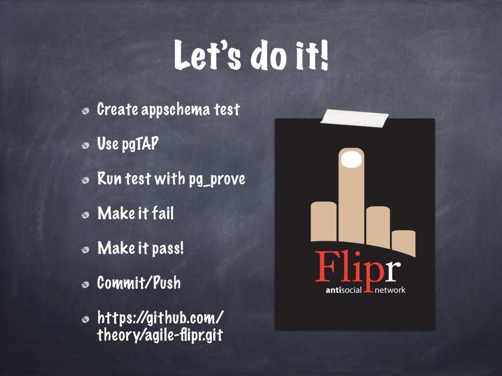 antisocial network Let's do it! Create appschem...
