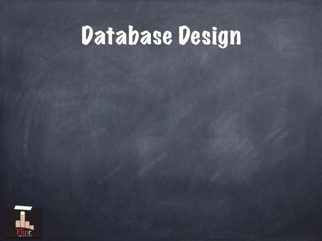 Database Design antisocial network