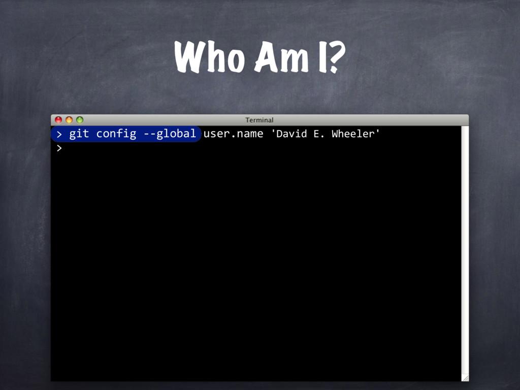 git config --global user.name 'David E. Wheeler...