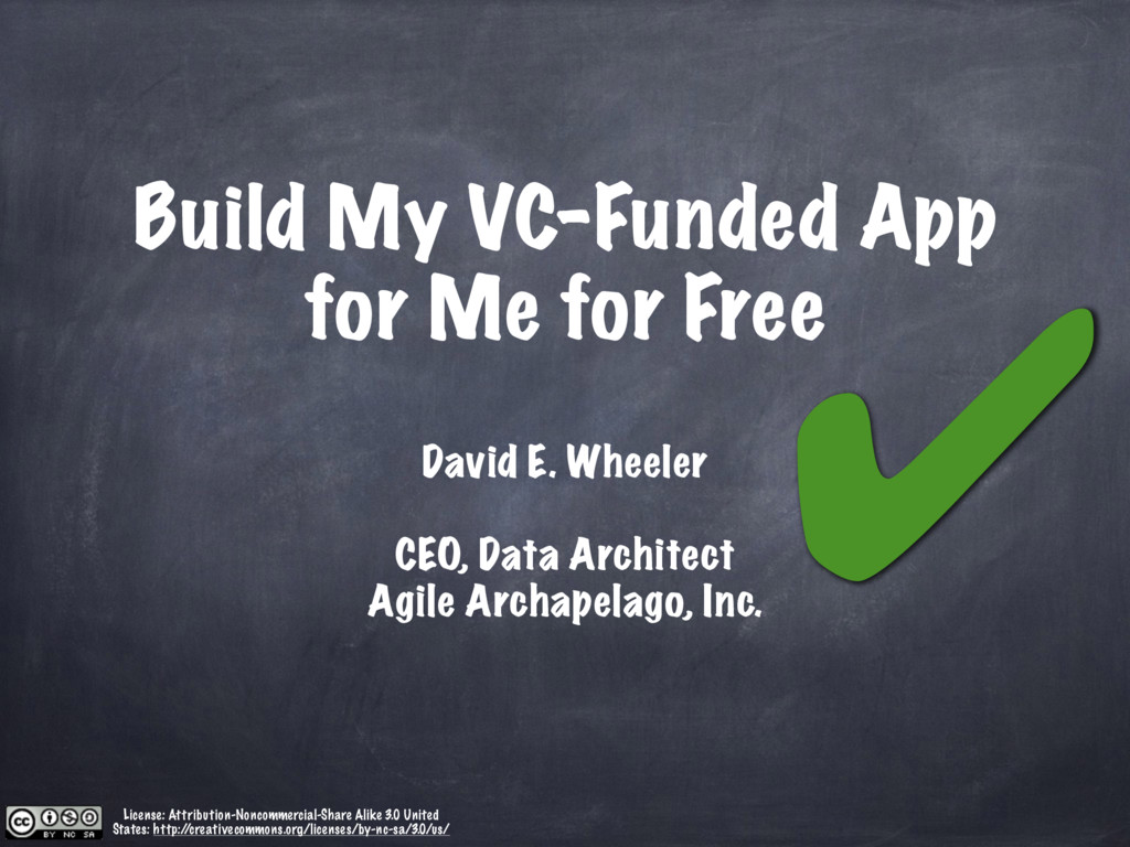 Build My VC-Funded App for Me for Free David E....