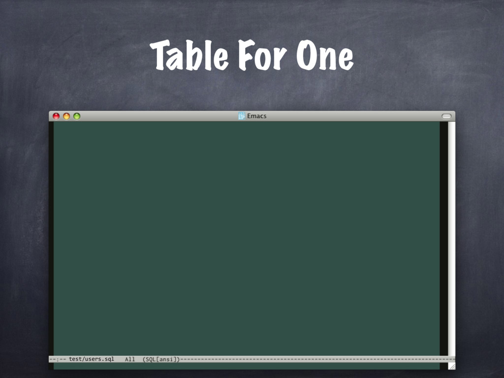 test/users.sql Table For One