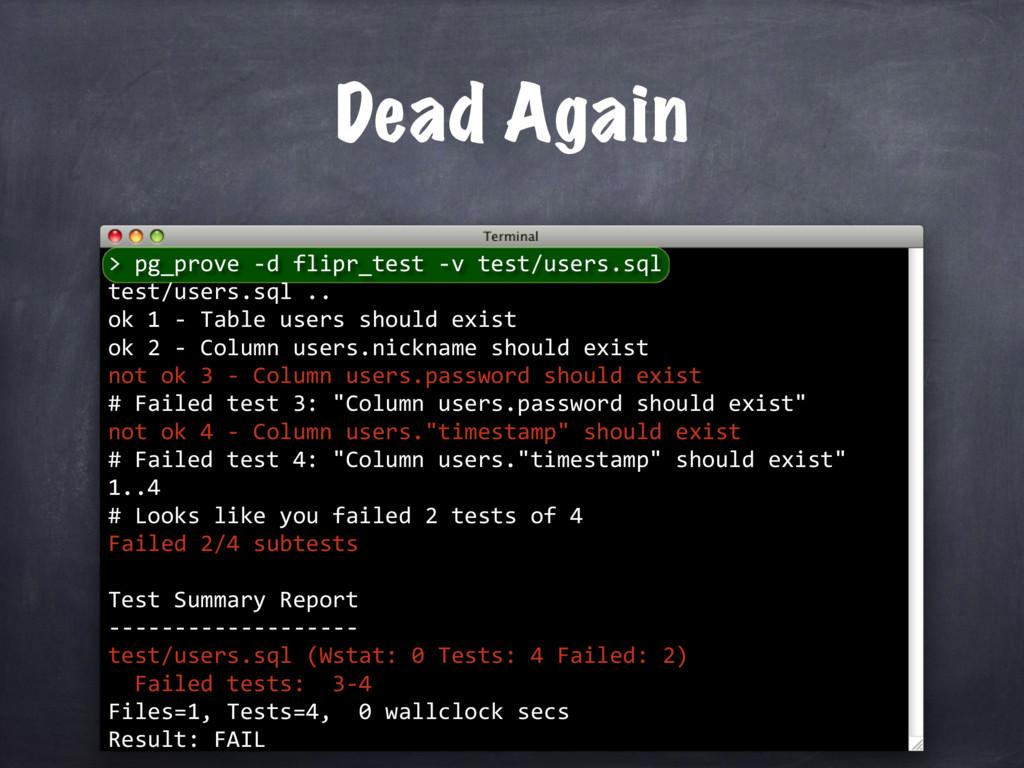 pg_prove -d flipr_test -v test/users.sql test/u...