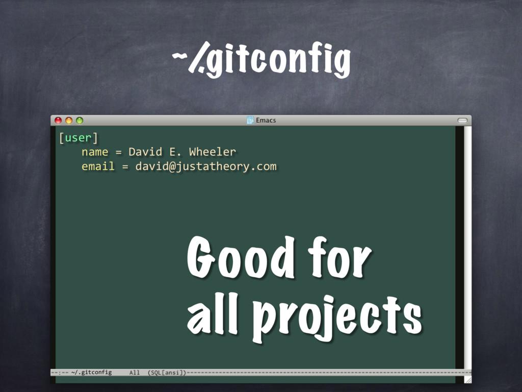 ~/.gitconfig ~/ .gitconfig [user] name = David ...