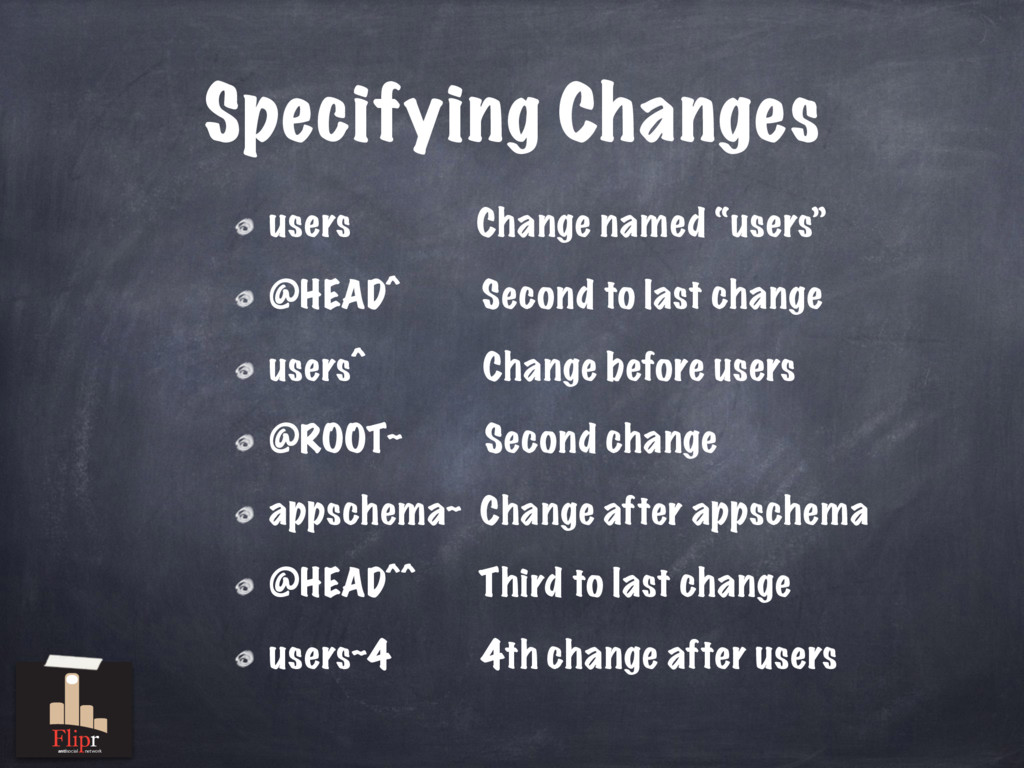 "Specifying Changes users Change named ""users"" @..."