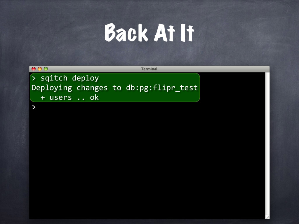 sqitch deploy Deploying changes to db:pg:flipr_...