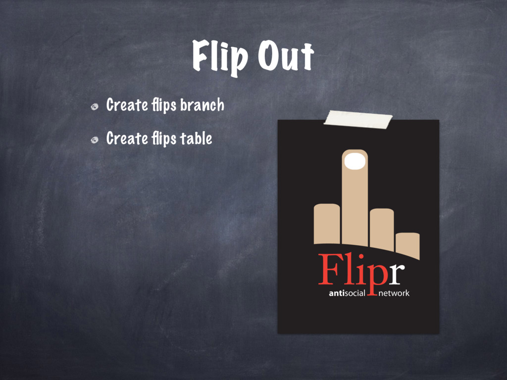 antisocial network Flip Out Create flips branch ...