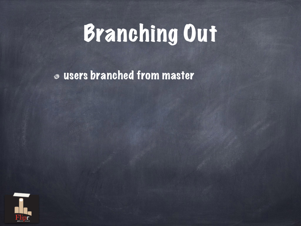Branching Out users branched from master antiso...