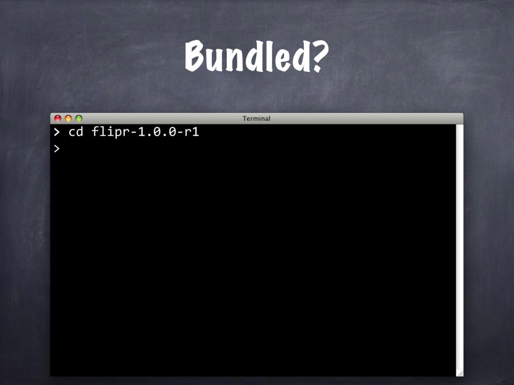 > cd flipr-1.0.0-r1 > Bundled? >