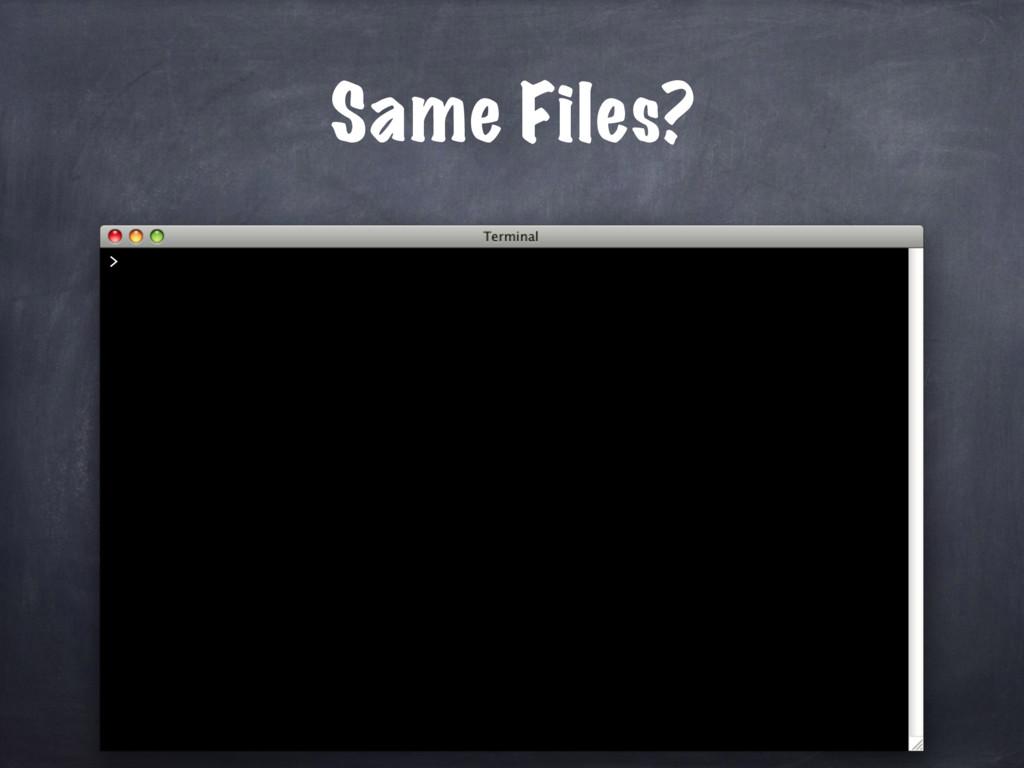 Same Files? >