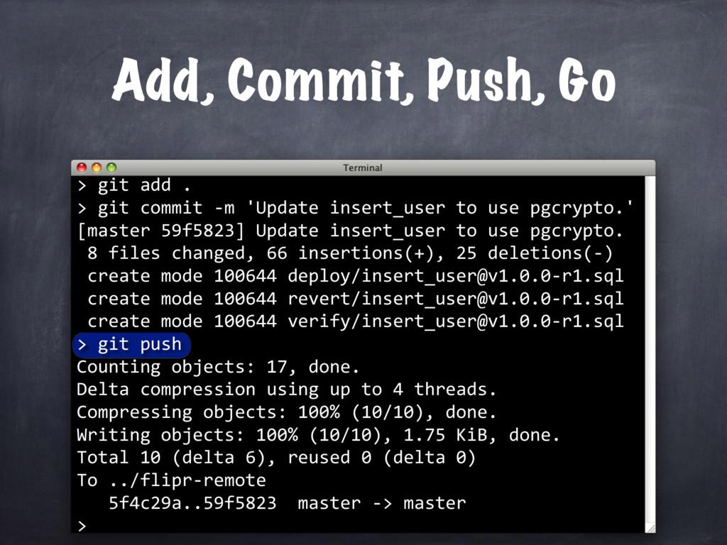 git add . > git commit -m 'Update insert_user t...